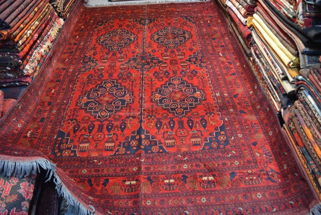 These Rugs Are Weaving From The Nation Of Afghanistan Majority Wool Knots Woven Onto A Or Flax Foundation